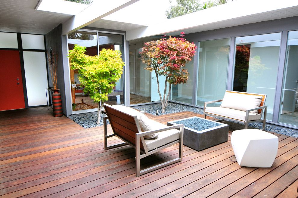 Sensational mid century modern decorating ideas for decorative deck midcentury design ideas with courtyard eichler
