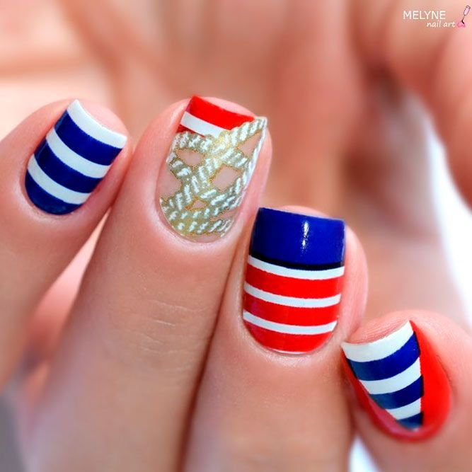Best Nail Art Patriotic Ideas Naildesignsjournal Com Trendy Nail Art Cool Nail Art Nail Art