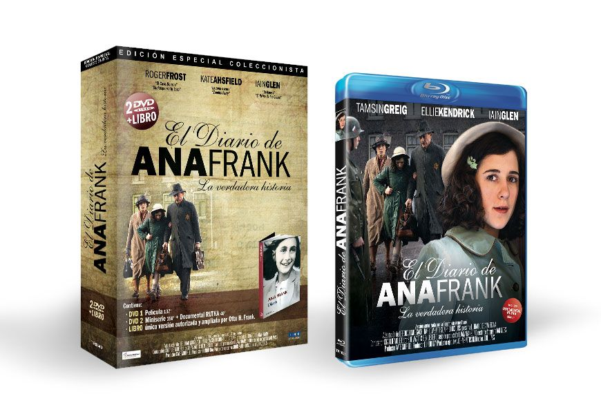 Diseño De Pack Edición Coleccionista De Dvd Libro Y Blu Ray De La Serie Documental El Diario De Ana Frank Book Cover Books Intro