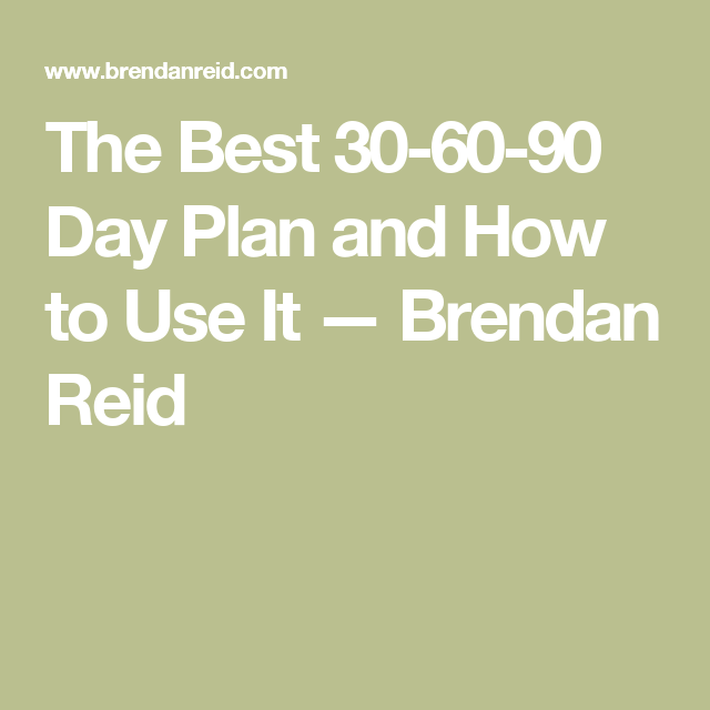 The Best  Day Plan And How To Use It  Brendan Reid  How