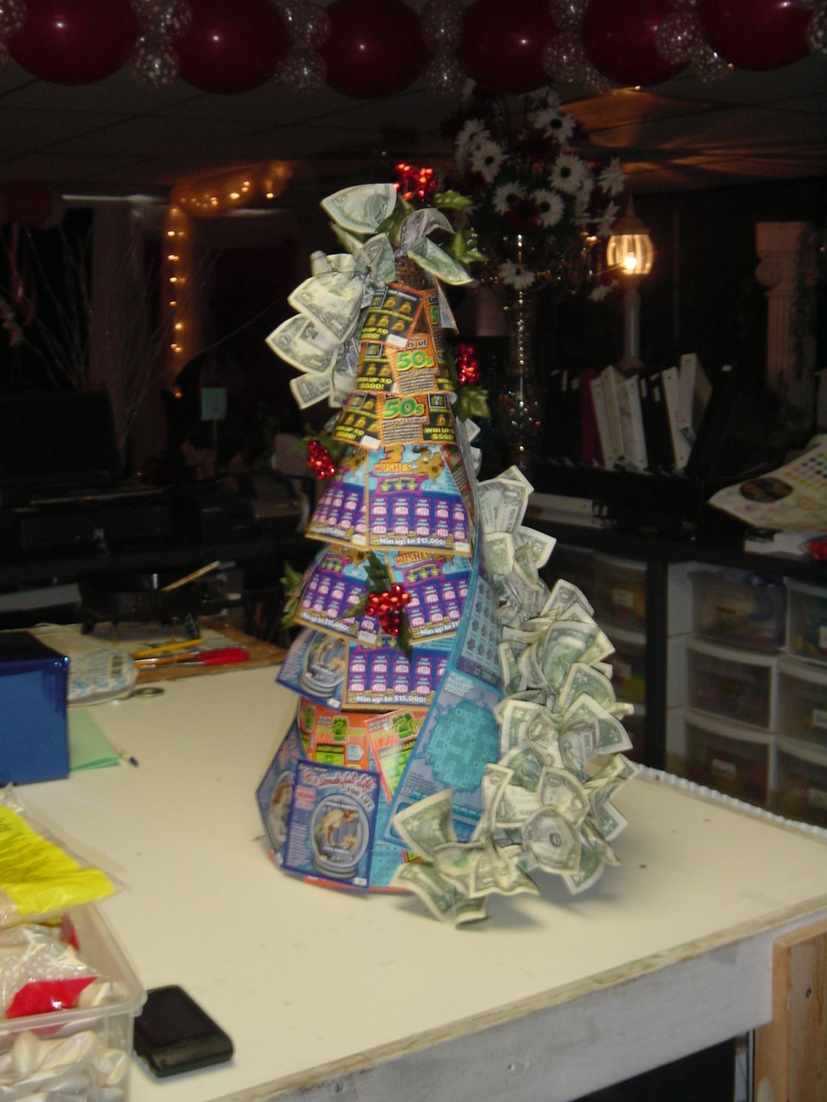 Lottery Christmas Tree Holiday Gifts Dad Christmas Tis The Season To Be Jolly