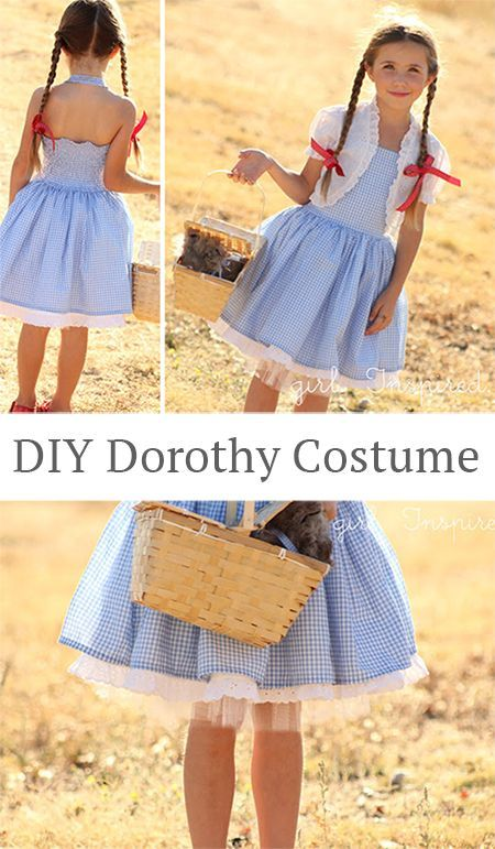 Make your own DIY Dorothy costume! Great tutorial by Girl Inspired.  sc 1 st  Pinterest & Make your own DIY Dorothy costume! Great tutorial by Girl Inspired ...