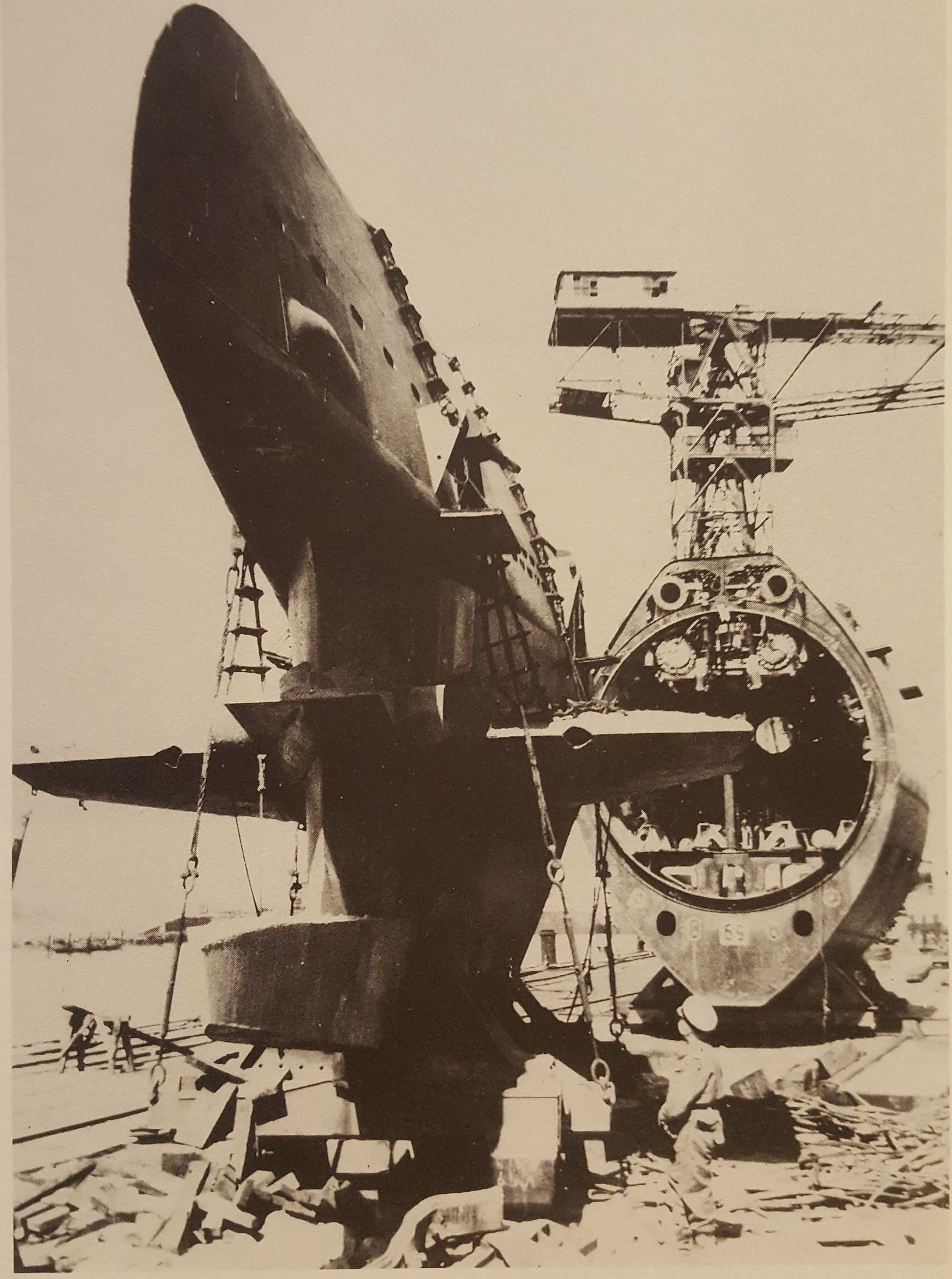 Aircraft Carrier Engine Room: Section 1 Of A Type XXI U-boat With The Rudder Not Yet In