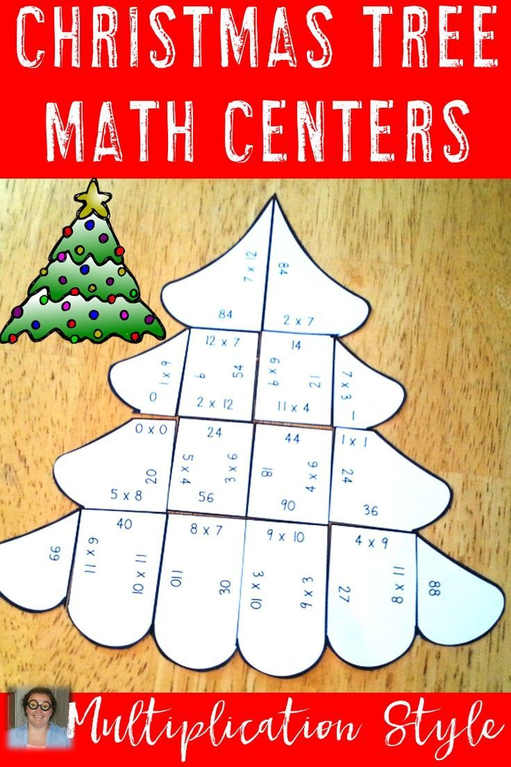 Christmas Math Centers Multiplication Christmas Tree Puzzles