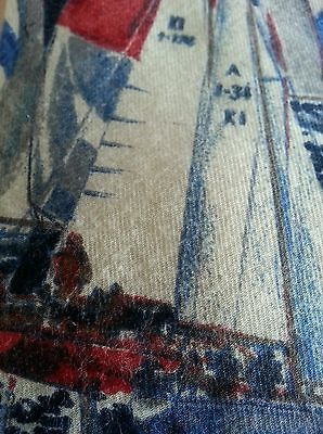 Land's End Mens Tie 100 Cotton Sailboats | eBay