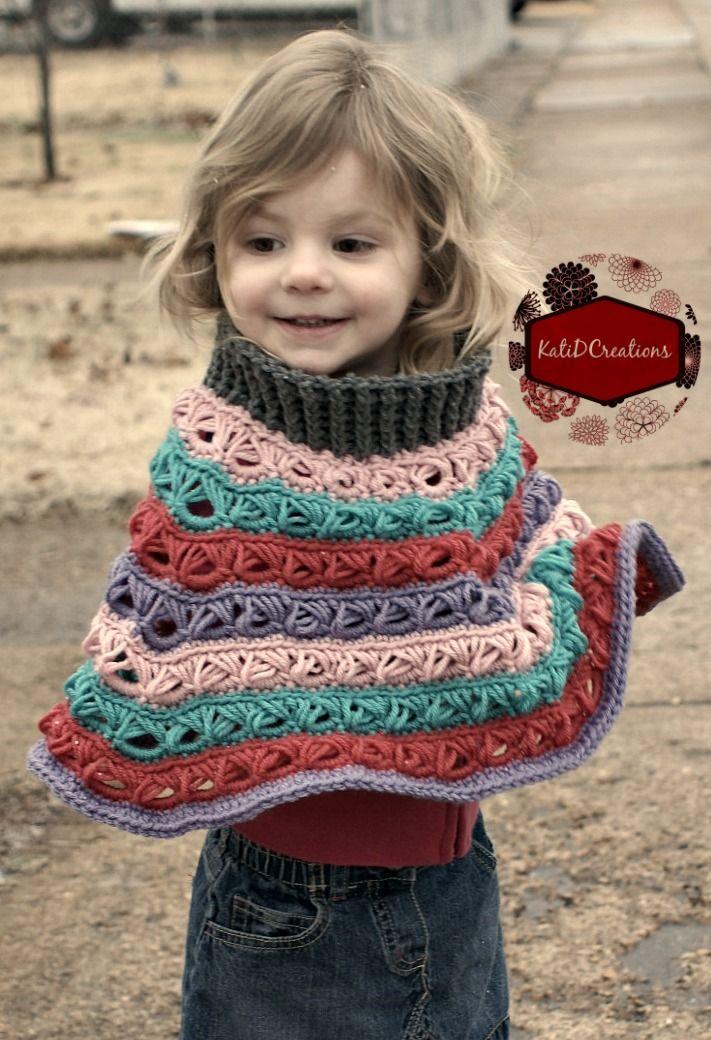 Marie Louise Poncho | Bebes y Niños | Pinterest