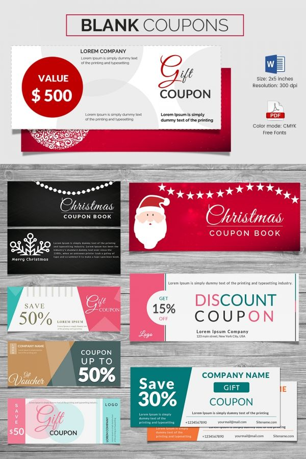 Coupon Voucher Design Template   Free Word Jpg Psd Format