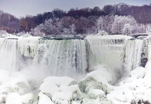 Image Of The Frozen Niagara Falls 2018 Buffalo Pinterest