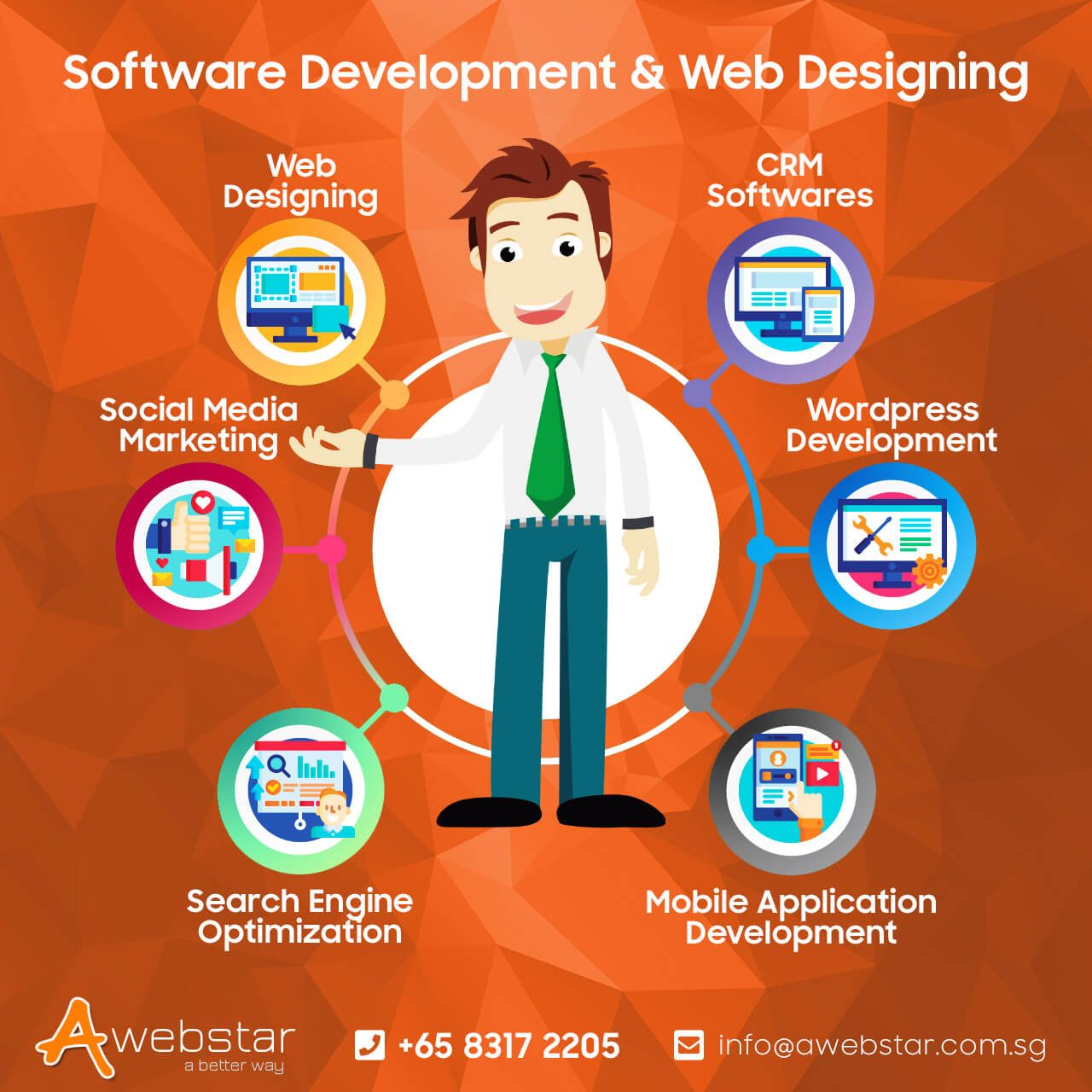 Awebstar Is A Top Rated Software Development Designing Company In Singapore We Are Specialising I Web Development Design Website Design Company Web Design