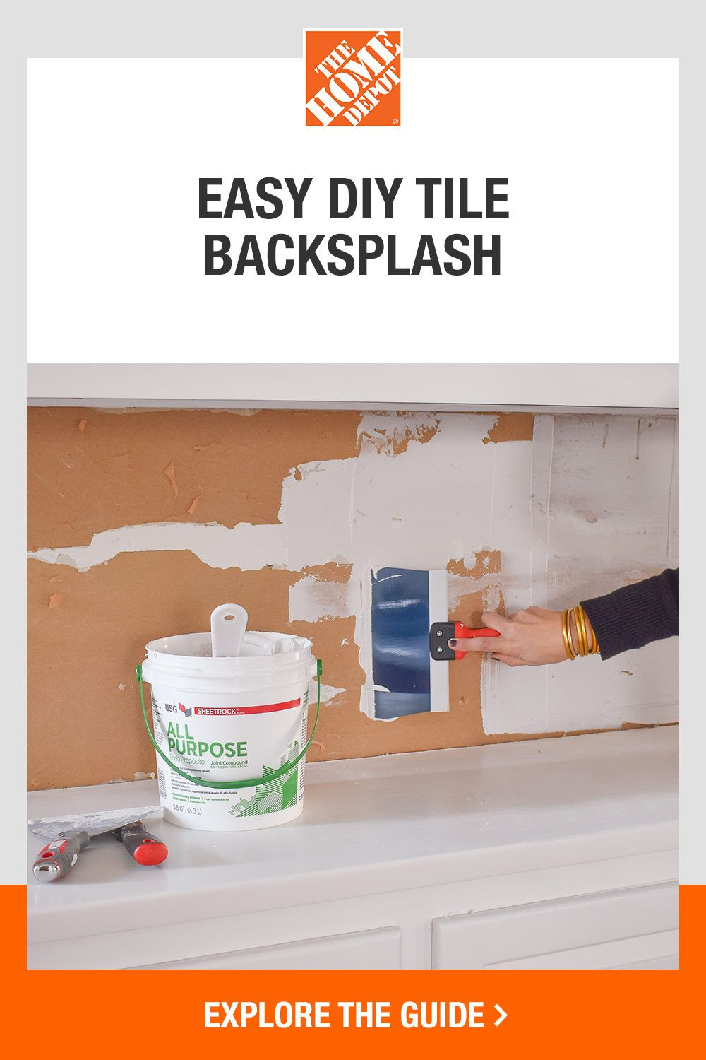 Give your home an easy update new tile backsplash. This Home Depot guide shares a step-by-step tutorial on how to install backsplash tile yourself, including tips and tricks for newbie DIYers. Click to learn how to add this timeless beauty and instant focal point to your home with help from The Home Depot.