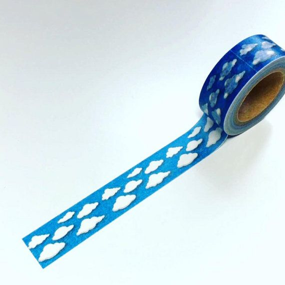 Clouds & blue sky lovely washi tape. Gorgeous new design. 10m roll. We have sooooo many more gorgeous rolls of washi tape in our shop here and you pay just 1 shipping/postage cost however many you buy :D https://www.etsy.com/uk/shop/DottyMooShop?ref=hdr_shop_menu&section_id=18956787 Pay just one shipping fee however many keyrings you buy (we ship worldwide) at one low cost. We have a new Facebook page where we will be offering occasional givea...