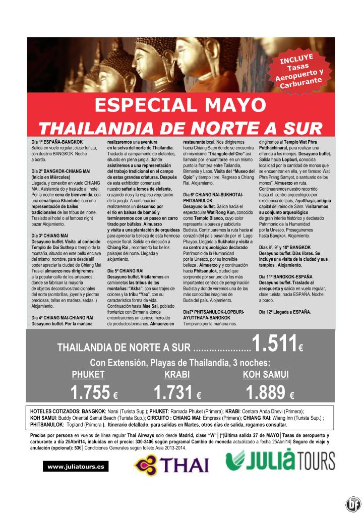 Thailandia de Norte a Sur y Extensión Playas Especial Mayo desde 1.511€ ultimo minuto - http://zocotours.com/thailandia-de-norte-a-sur-y-extension-playas-especial-mayo-desde-1-511e-ultimo-minuto/