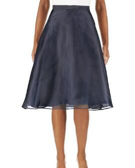 Organza Fit and Flare Party Skirt