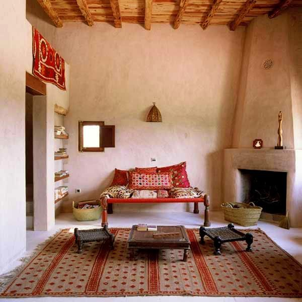 Traditional Indian Seating Arrangement For A Nook In Home The Embroidered Cushions And