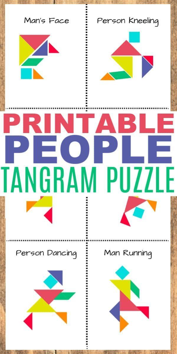 printable tangram people  tangram patterns tangram