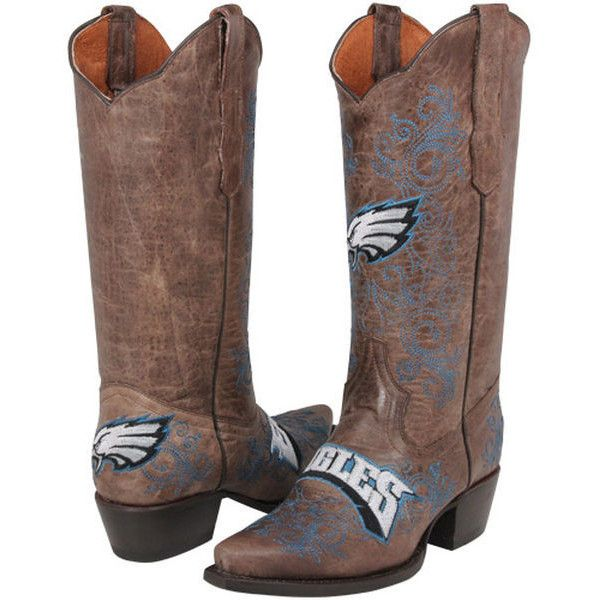 24e514c2d49 Philadelphia Eagles Womens Embroidered Cowboy Boots - Brown ($231 ...