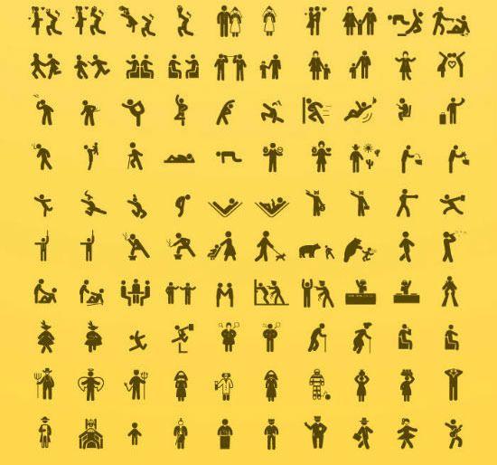 計500個 人間ピクトグラム無料psdアイコン素材 Human Pictos With