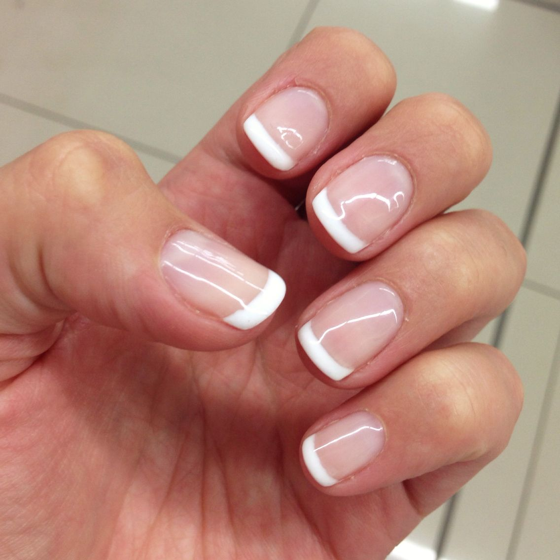 Nice and clean french gel overlay | Nails | Pinterest | Gel overlay ...