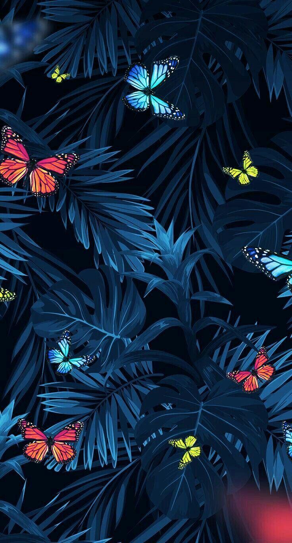Floral Tropical Wallpaper Iphone wallpaper illustration