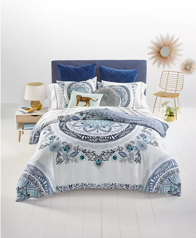 Martha Stewart Collection Traveler Medallion 3 Pc Full Queen Comforter Set Created For Macy S Review With Images Queen Comforter Sets Mattress Furniture Comforter Sets