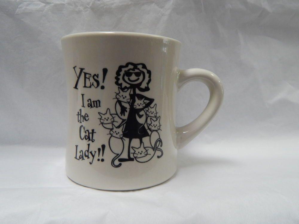 """""""Yes! I am the Cat Lady"""" Mug-NWT"""