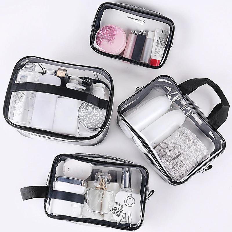 Neceser Transparente De Pvc Para Mujer Estuche De Maquillaje Transparente Para Viaje Organizador De Limpieza Y Bell Makeup Case Toiletry Storage Cosmetic Bag