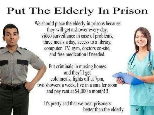 Image result for prison v. nursing home