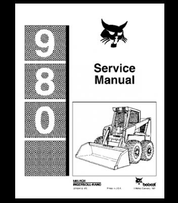 BOBCAT 980 SKID STEER LOADER SERVICE REPAIR MANUAL INSTANT