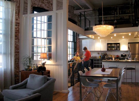 I like the division of areas of kitchen. dining room. living room. Chandelier!