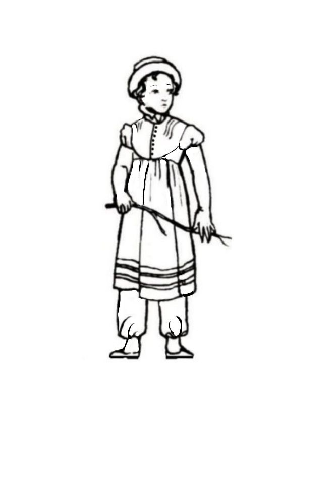 colouring in pictures of regency childrens costume 1810 - Colouring Sheets For Children