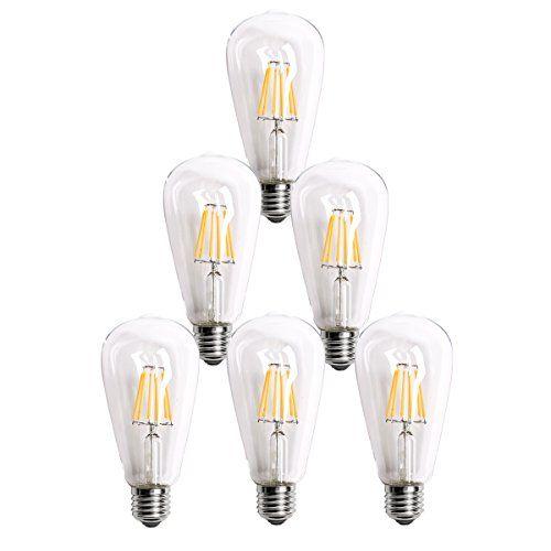 Homestia Led Clear St64 6w 220v Warm Lighting Filament