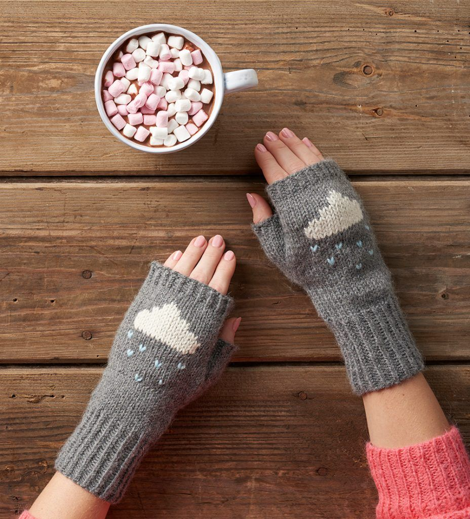 Wool Week day 3: Knit cloud wrist warmers | Crochet/Tricot ...