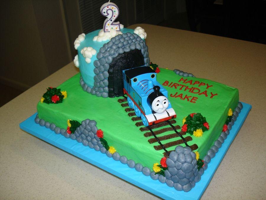 Admirable Thomas The Train Birthday Cake Train Birthday Cake Thomas Birthday Cards Printable Benkemecafe Filternl
