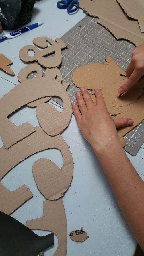 Letras 3D en cartón y decoradas Manualidades Manualidades Letras de cartón Cartón