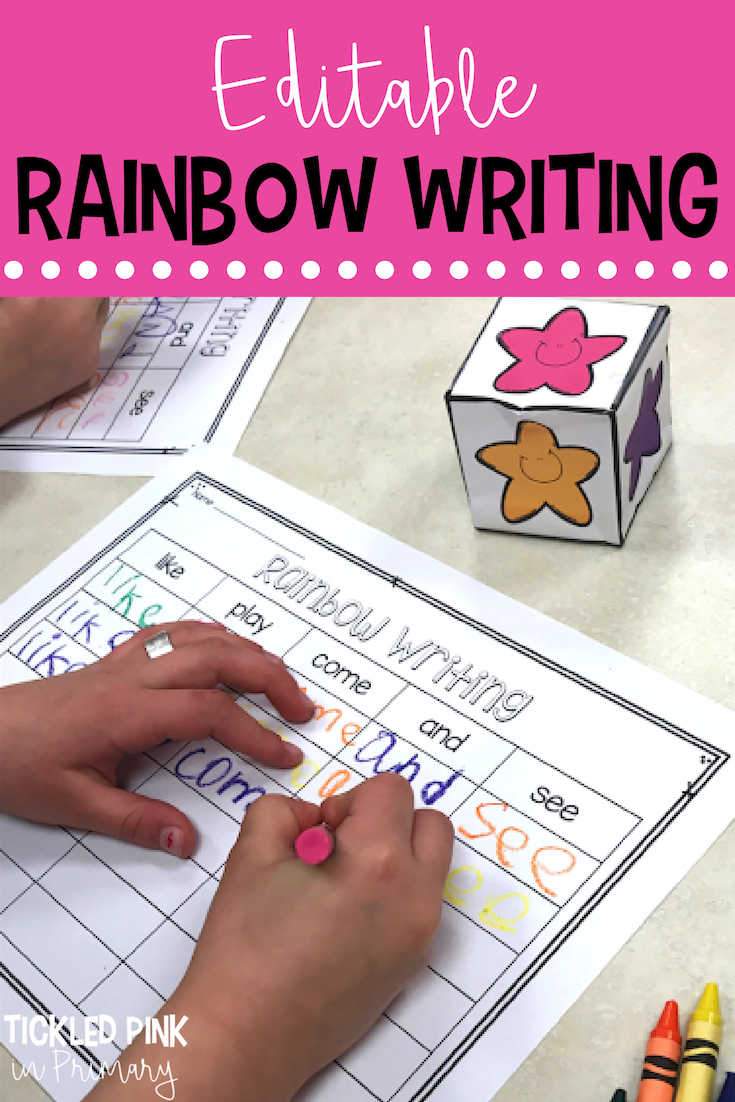 10 Sight Word Activities And Games For Whole Group And Literacy Centers Rainbow Writing Kindergarten Sight Word Games Sight Words Kindergarten [ 1102 x 735 Pixel ]