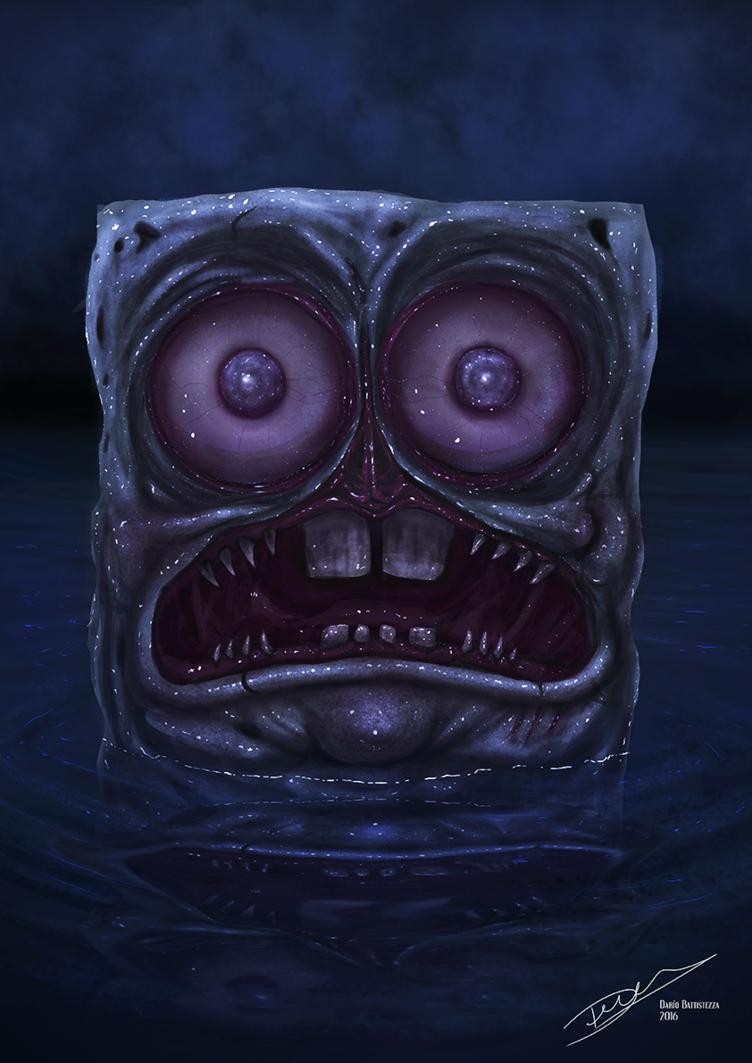 Spongebob Zombie Version Bob Esponja Horror Zombie Realistic Spongebob Drawing Halloween Macabre
