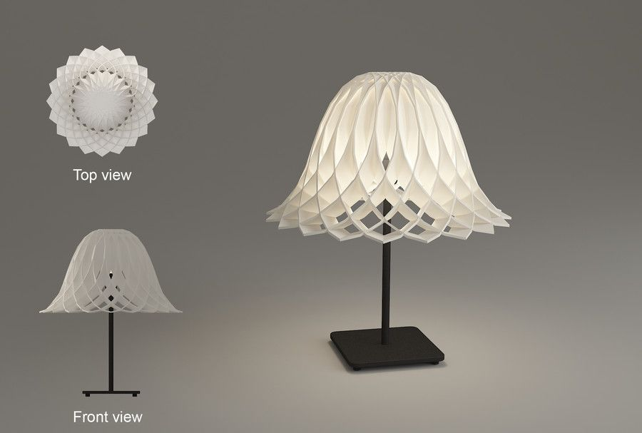 Contest Entry 99 For Q Qute 3d Print Lamp Shade Design Contest 2016 Summer Lampshade Designs Lamp Design