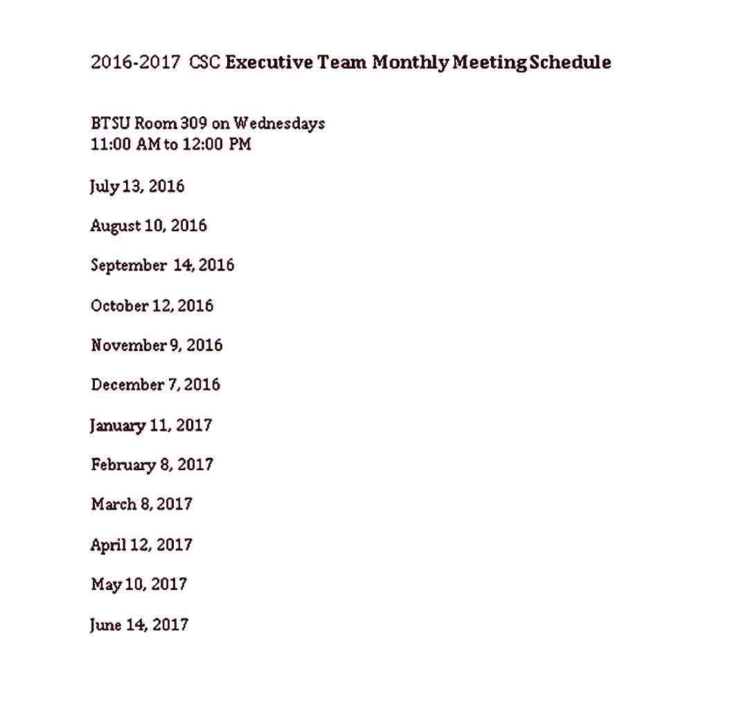 Printable Team Schedule Templates