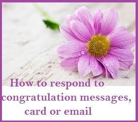 Congratulation Messages Reply To Card Or Email