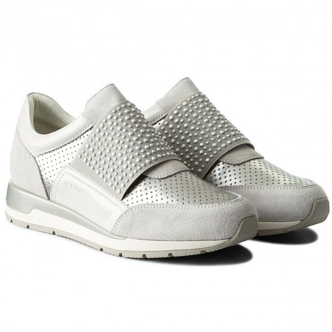 Sneakers GEOX - D Shahira A D82N1A 022NF C0626 Off White/Silver FLA0t