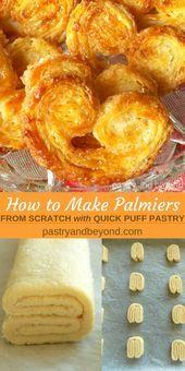 #avec #feuilletee #gateaudessertpatisserie #palmier #pate #patisserie #rapide Palmier Pastry-Vous pouvez faire ces délicieux palmiers à partir de zéro avec une pâte feuilletée rapide. Vous pouvez facilement apprendre à faire cette pâte à sucre palmier avec des photos étape par étape! #palmier #pastry #easyrecipe #patefeuilleteerapide