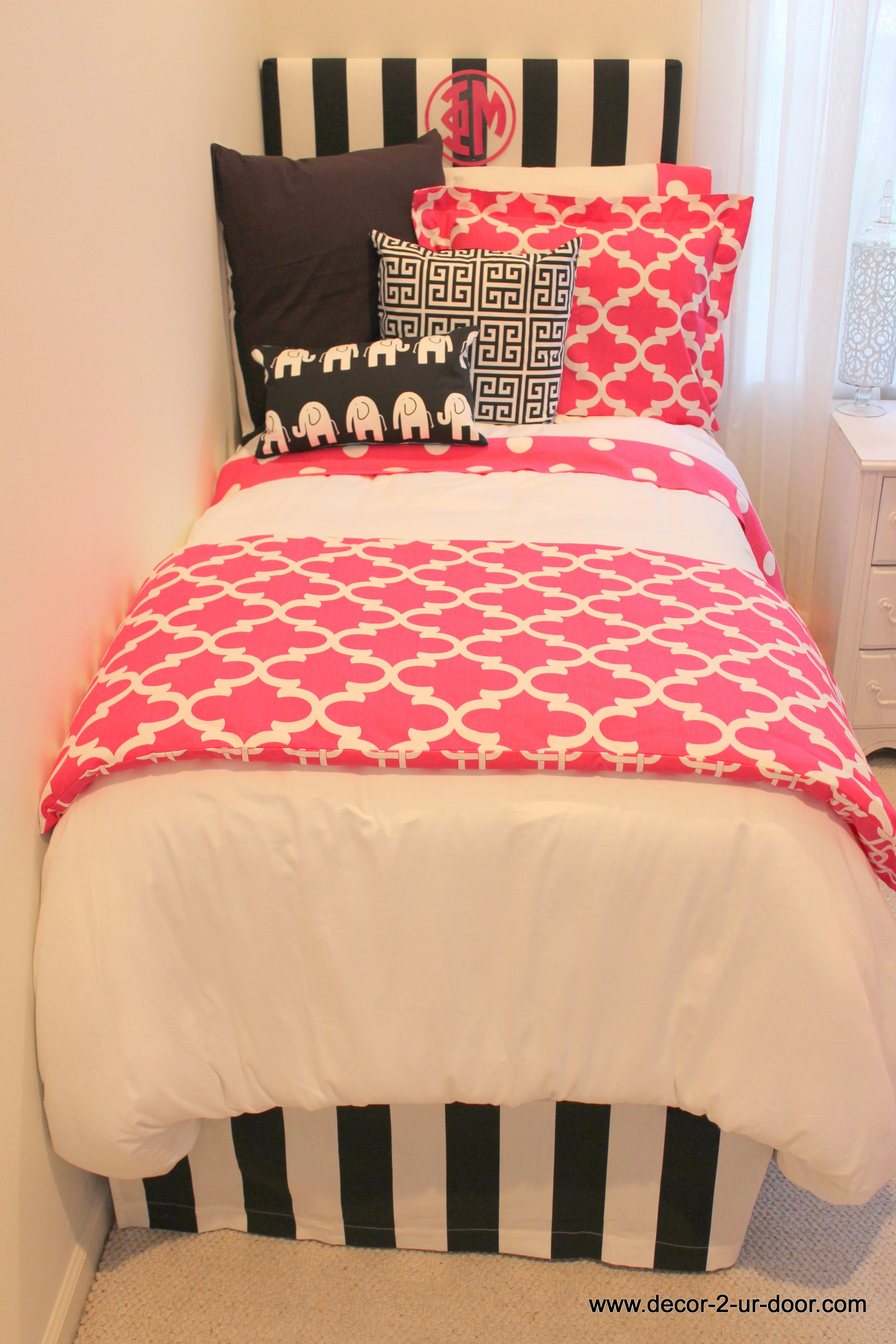 Pink Quatrafoil Bedding Perfect For Every Phi Mu Phi Mu
