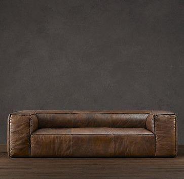 fulham leather sofa contemporary sofas restoration hardware rh pinterest com fulham leather sofa review leather sofas fulham london
