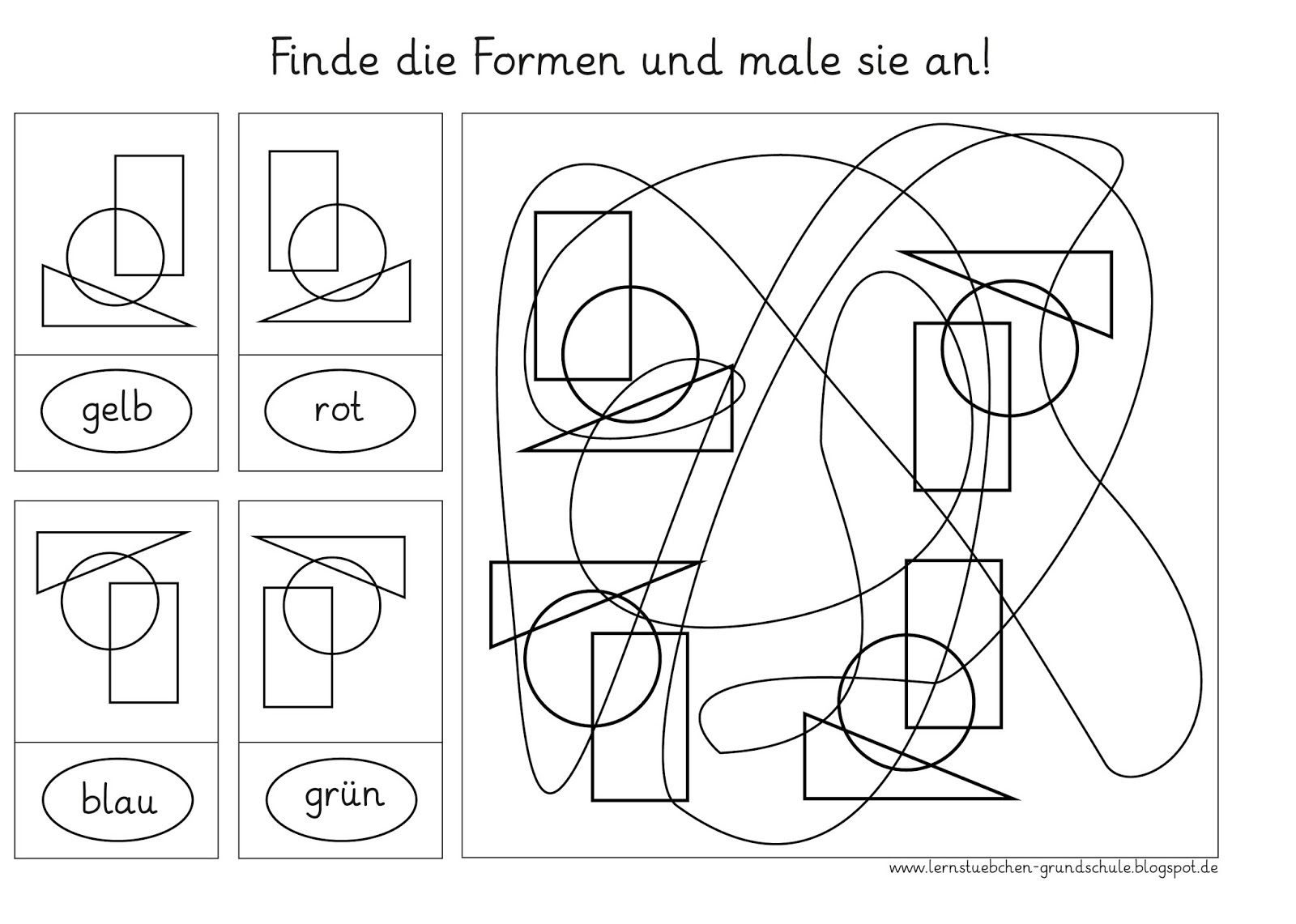 lernst bchen formen finden 1 die visuelle wahrnehmung schulen figure ground. Black Bedroom Furniture Sets. Home Design Ideas