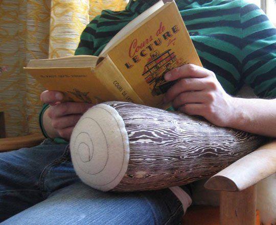 Etsy Find: Woodgrain Log Pillows by Norwegian Wood