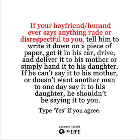 If Your Boyfriend Husband Ever Says Anything Rude Or Disrespectful New Hurtful Quote On Boyfriend
