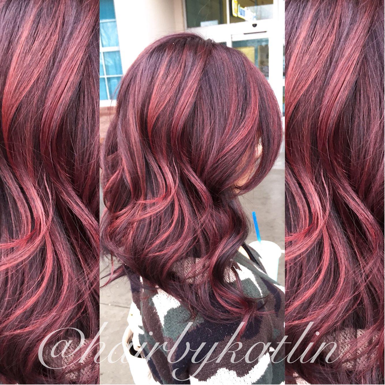 Red Violet Balayage Short Hair Balayage Balayage Hair Red Violet Hair