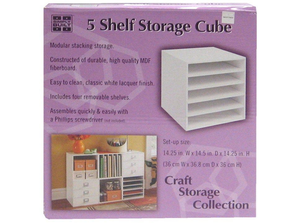 White 5 Shelf Storage Cube For My Invitation Paper