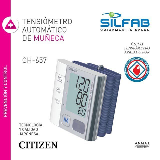 #Tensiómetro Automático de Muñeca Citizen CH-657 de #SILFAB  SILFAB - Productos Pensados para tu #Bienestar