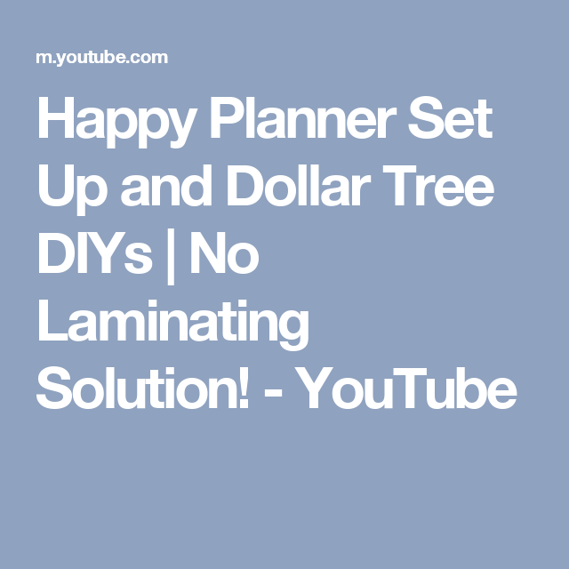 Happy Planner Set Up And Dollar Tree DIYs